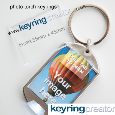 torch keyrings add your photo